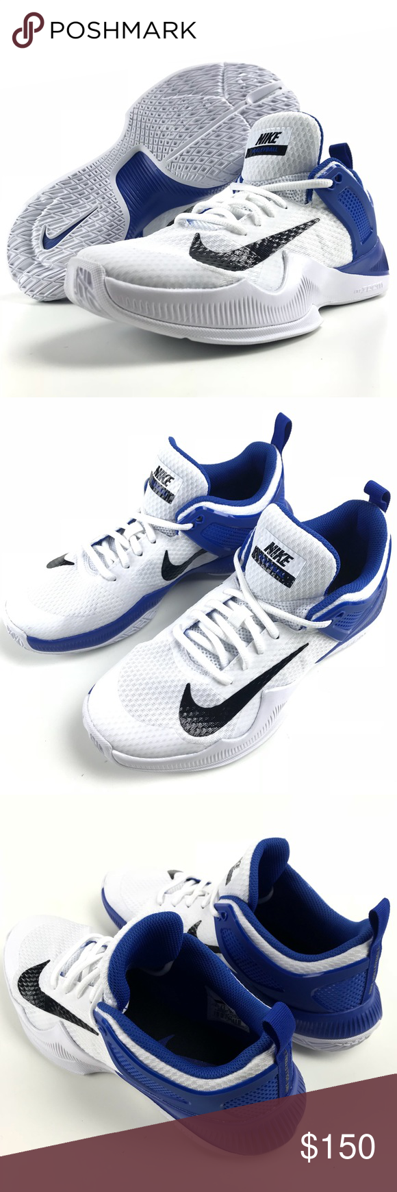 Nike Women S Air Zoom Hyperace Volleyball Shoes Volleyball Shoes Nike Women Blue Shoes