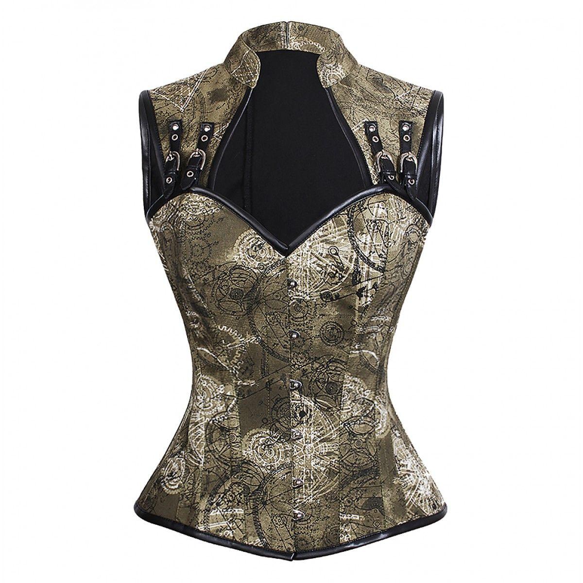d74a569a8 Discover alternative fashion at Alt Noir! Thekla Steel Bone Steampunk  Overbust Corset