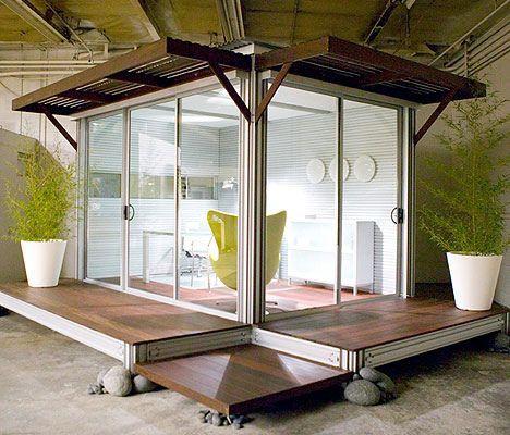 meditation office. A Modular Office Or Meditation Room. Solar Option Available. :)