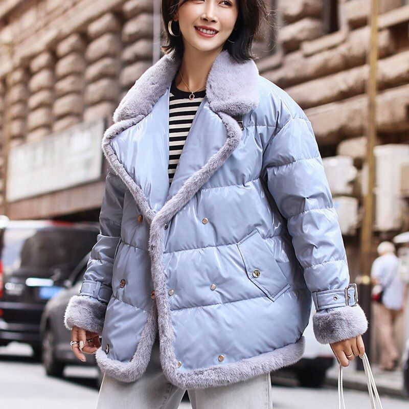 Photo of US $ 396.0 Mink fur women down coats 2019 winter fashion natural …