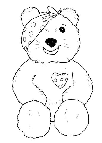 Pudsey Bear Sitting Coloring Page Free Printable Coloring Pages