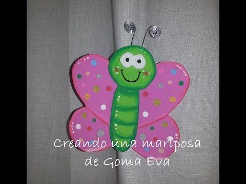 Creando una mariposa de GomaEva (foamy) - DIY Eva Rubber Butterfly ...