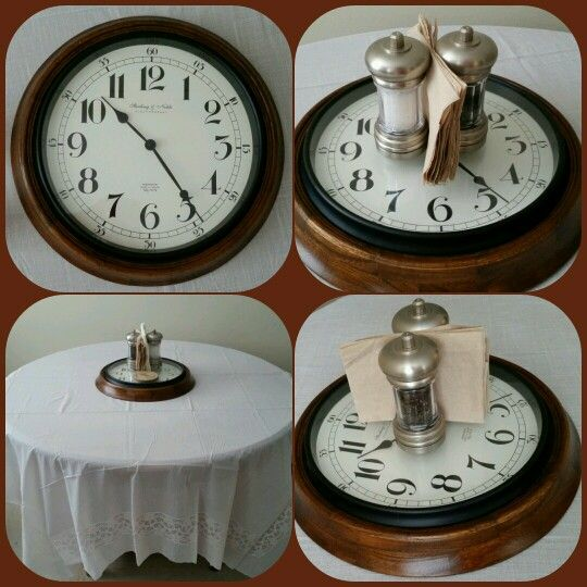 Broken Clock Repurpose As A Table Centerpiece Use It For