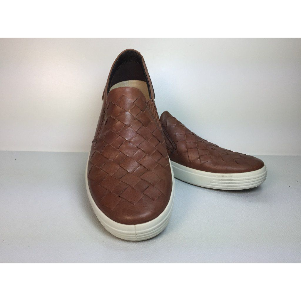 4626d43416 Ecco Men's Soft 7 Woven Slip-On Brown Sneaker, Size 41eu (Preloved ...