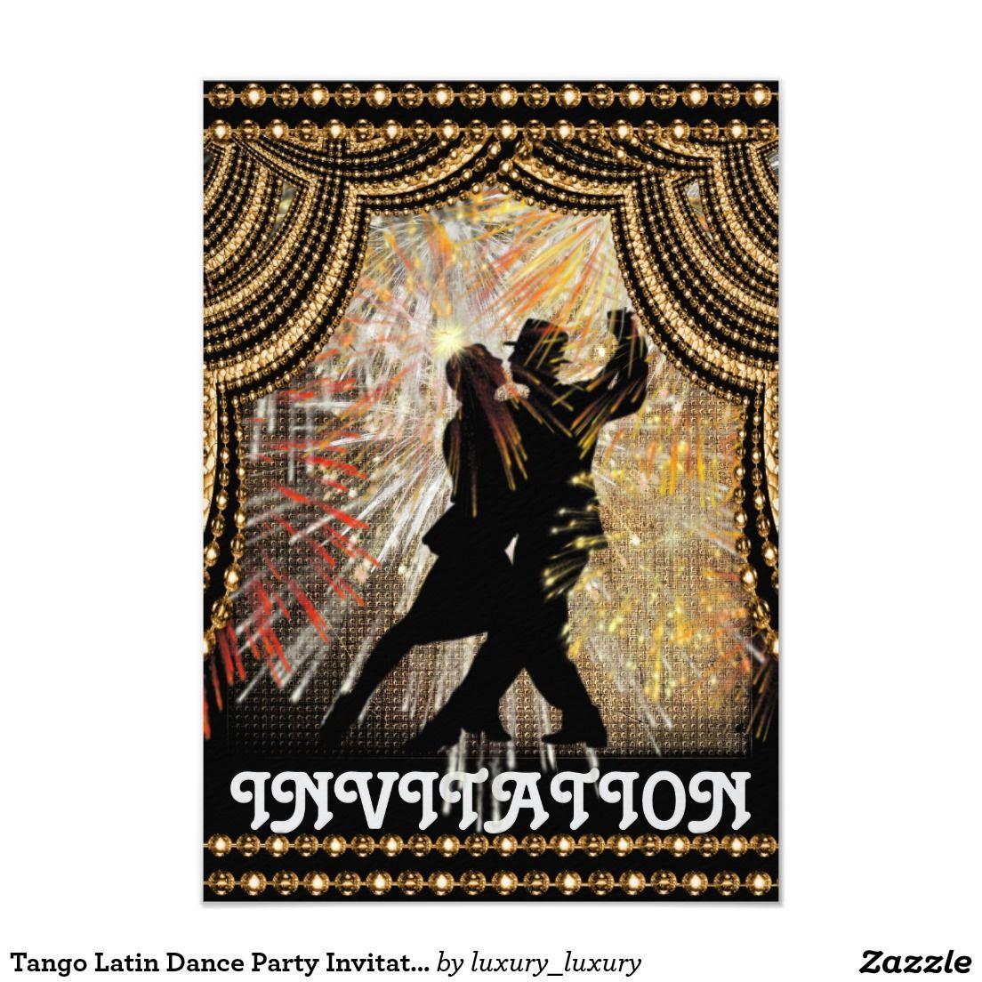Tango Latin Dance Party Invitation