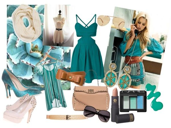 """""""In the Mood for Emerald & Nude"""" by ramissa on Polyvore"""