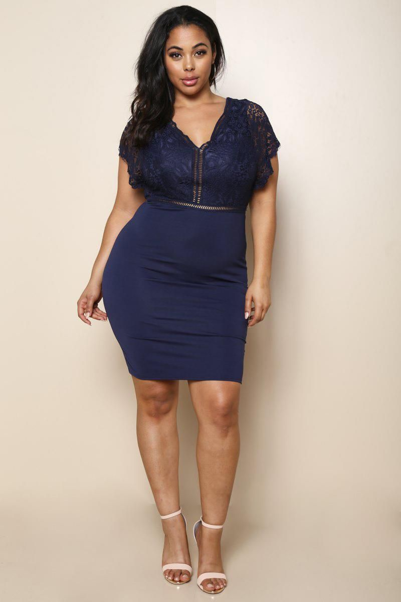 bfa39646ee A sweet plus size formal dress with an eye-catching floral lace. Features a