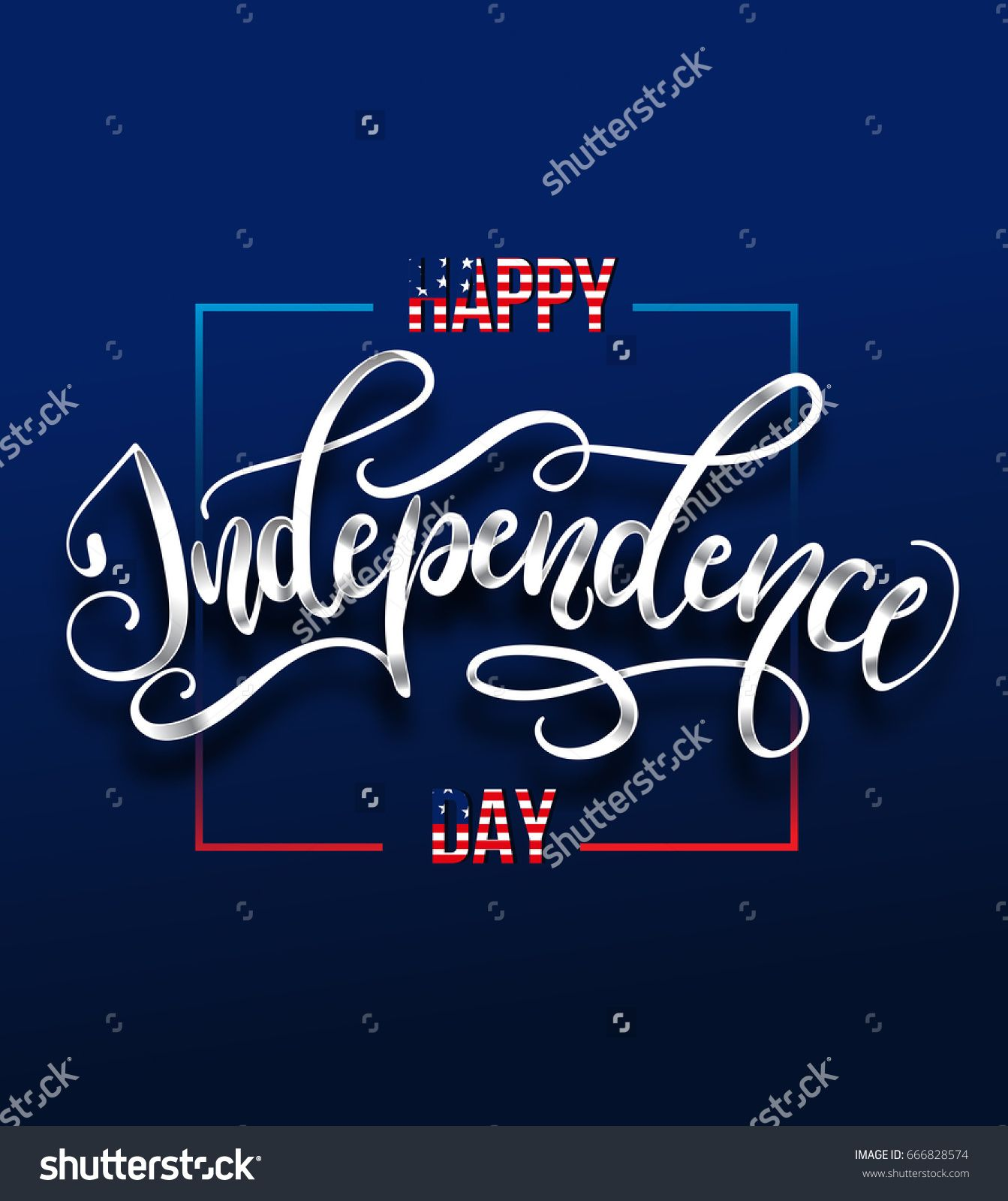 Happy Independence day 4 th july Greeting card for Independence