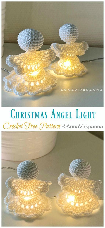 Christmas Angel Light Crochet Free Patterns - Crochet & Knitting #holidaywinter