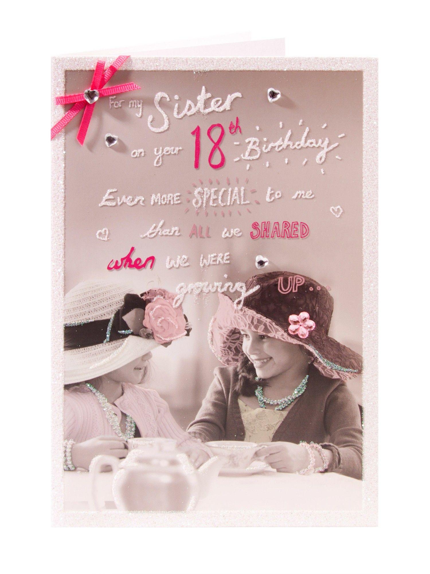 Sister 18th Birthday Card...
