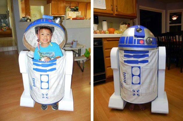 My husband created this awesome r2d2 costume for our son it was a my husband created this awesome r2d2 costume for our son it was a huge success the hat an old globe cut in half bolted to an old bike helmet solutioingenieria Image collections