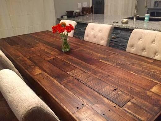 custom reclaimed wood farm dining table walnut - farmhouse ...