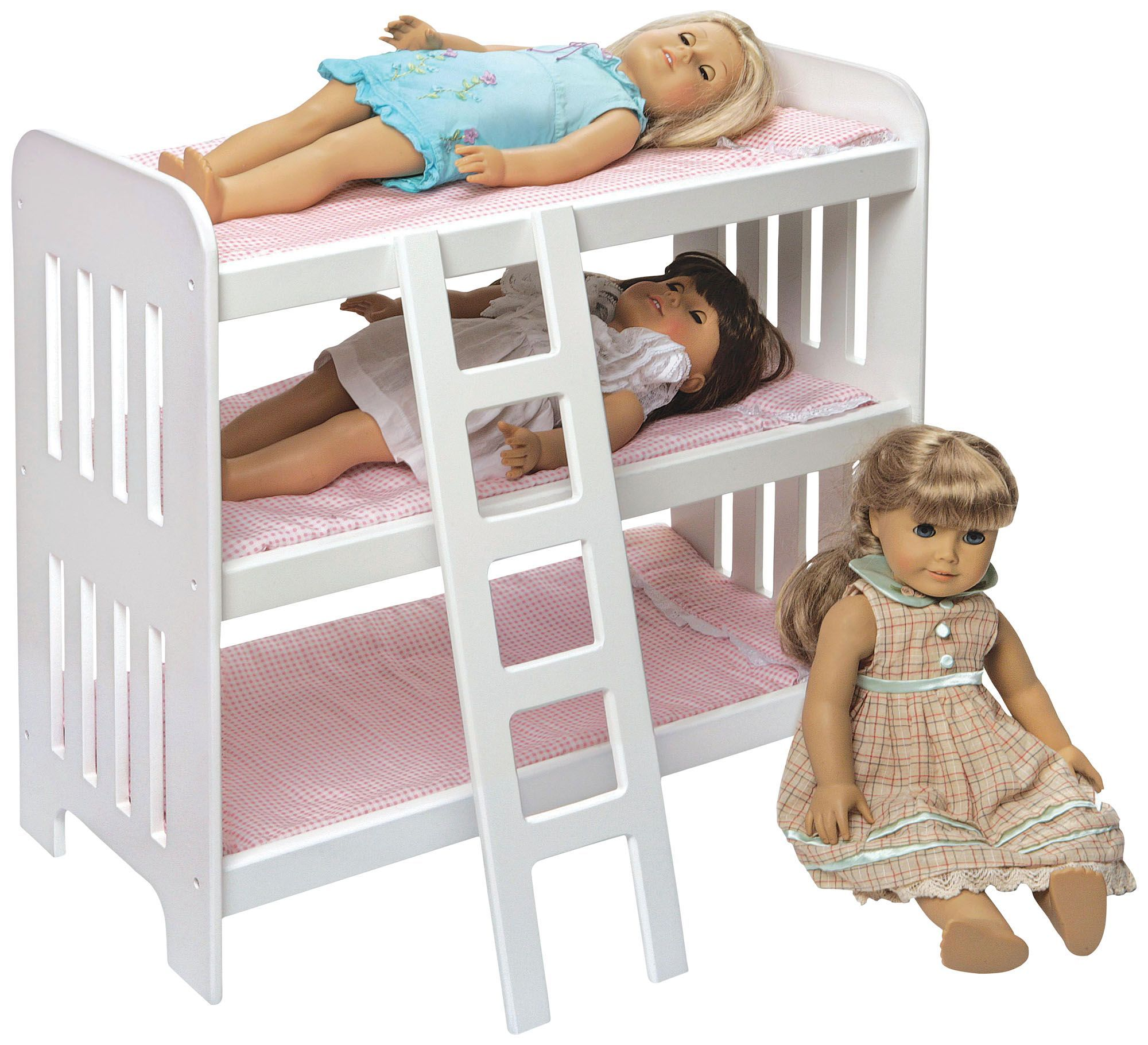 Pink Baby Doll Bunk Bed With Images Doll Bunk Beds