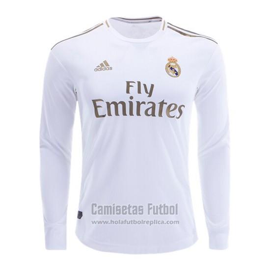 Camiseta Real Madrid Primera Manga Larga 2019-2020 futbol re