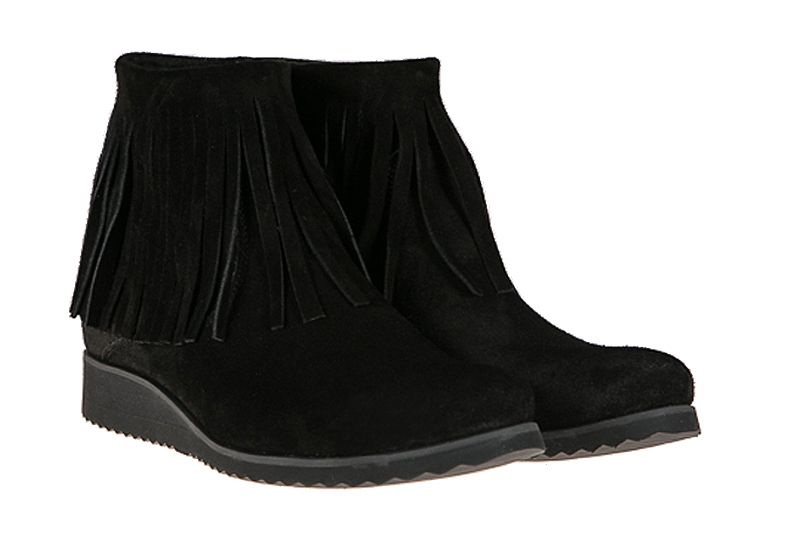 Botki Skorzane Czarne Fredzle Zamsz Lafemme 35 41 5663374489 Oficjalne Archiwum Allegro Boots Shoes Wedge Boot