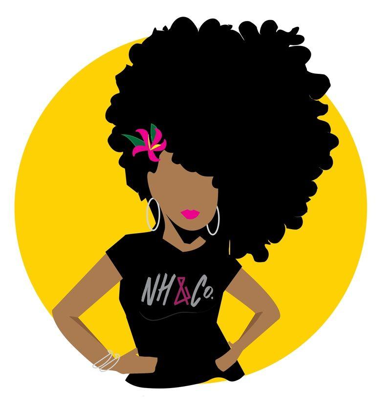 natural hair logos