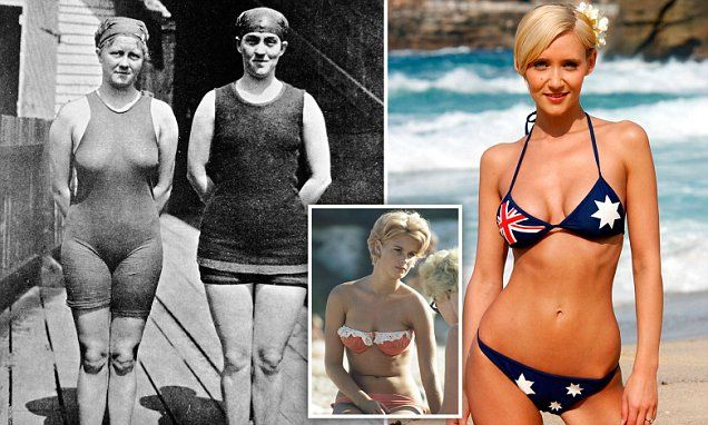 Evolution Of Female Swimwear From Bloomers To Australia Day Bikinis