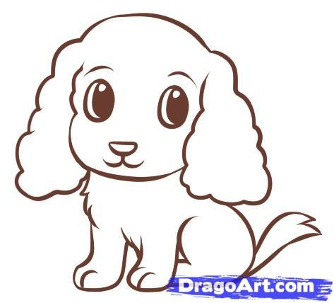 Easy Drawings Of Cute Dogs | www.pixshark.com - Images ...
