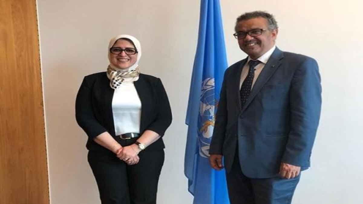 وزيرة الصحة هالة زايد تقبل تحدي مدير منظمة الصحة العالمية Nun Dress Suit Jacket Fashion