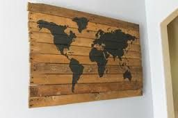 World map pallet art track all he places youve been and all the world map pallet art track all he places youve been and all the places you want to go gumiabroncs Choice Image