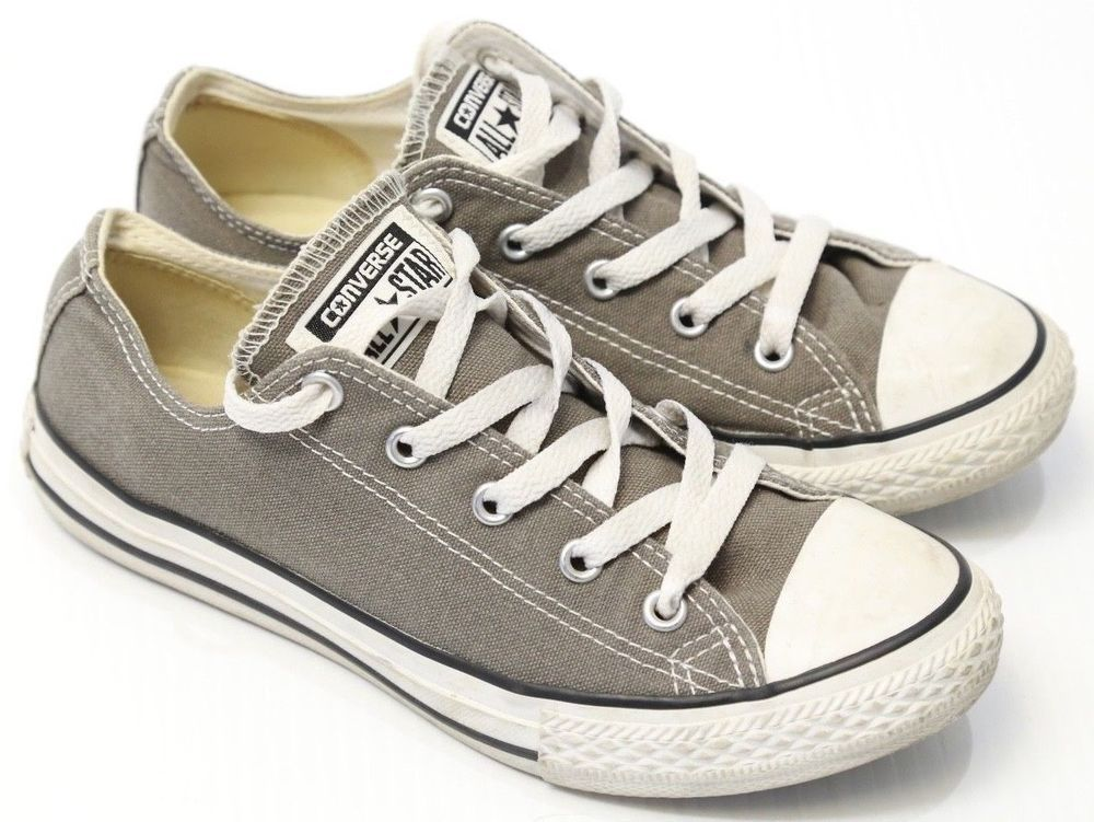 eed289a85dfaa7 Kid s Converse All Star Grey Canvas Low Top Youth Size 3  Converse