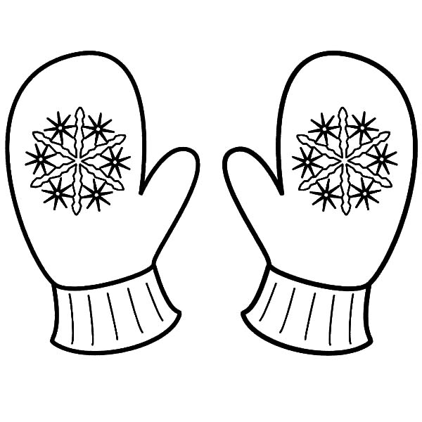 Snowflake Mittens Coloring Pages Color Luna nel 2020