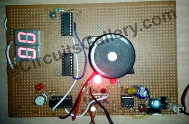 Heartbeat Monitor Project Circuit Demo | Electronics and electrical ...