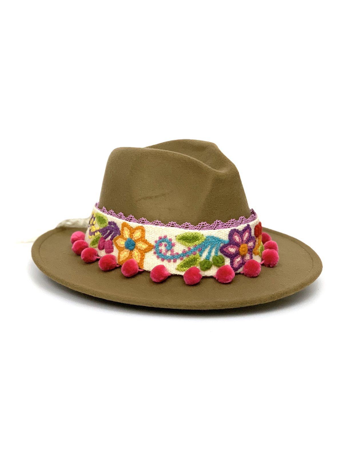 Lucinda s Felt Hat  Decorated fedora hat ec2771664bec