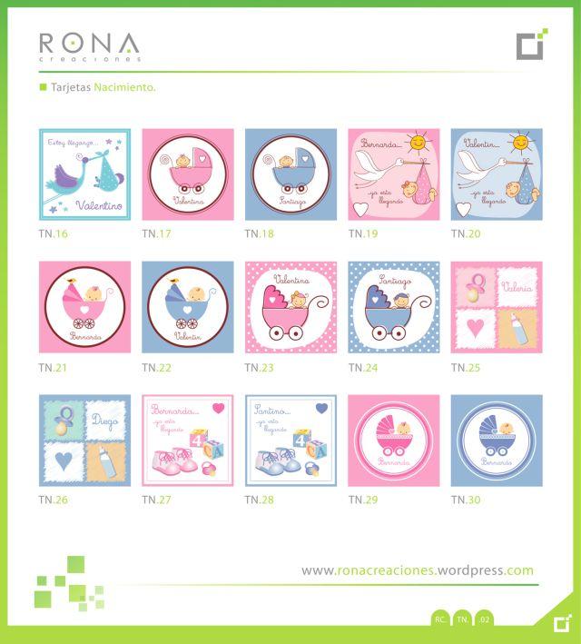 Tarjetas personalizadas Baby Shower y Nacimiento