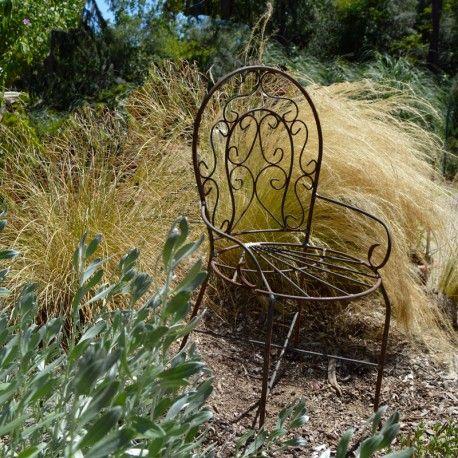 chaise pour enfant fer forg aspect rouille d co fer forg rouille d co fer forg fer forg. Black Bedroom Furniture Sets. Home Design Ideas