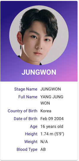 I Land Yang Jungwon Kpop Profiles Kpop Profiles My Land Reality Show