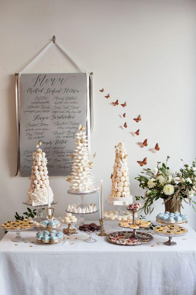 French Inspired Wedding With Dessert Reception Tara Dan