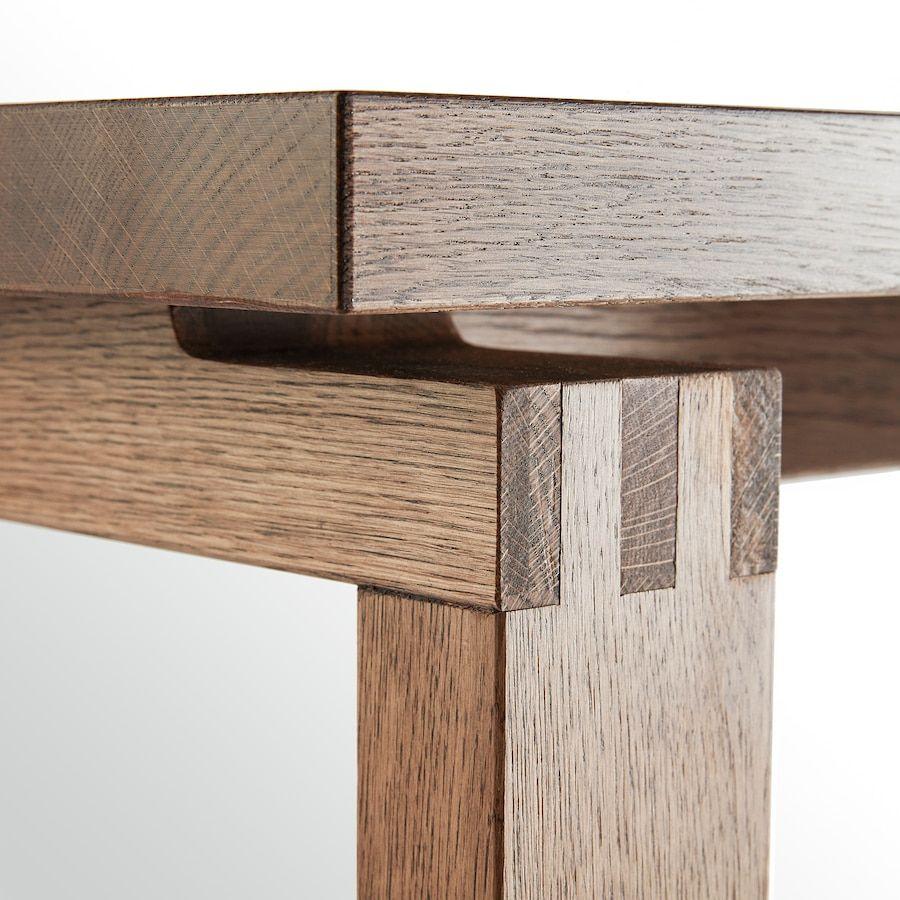 Morbylanga Table Oak Veneer Brown Stained Length 55 1 8 Ikea Patas De Muebles De Madera Mesas De Madera Reciclada Mesas Madera Y Hierro [ 900 x 900 Pixel ]
