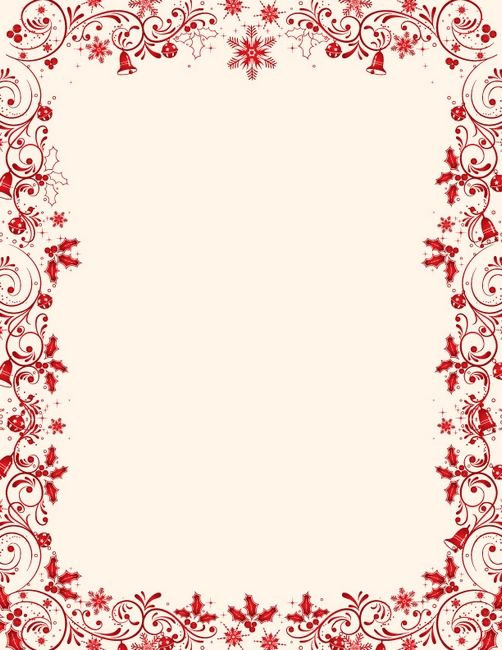 Holiday Border Templates Free Christmas Letterhead Designs images