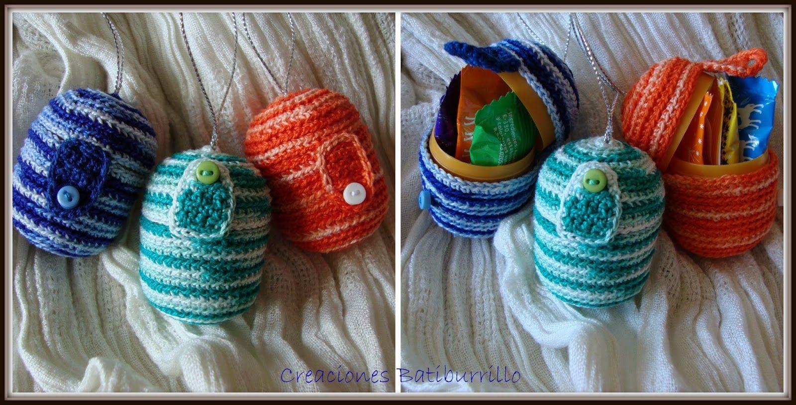 HUEVOS DE PASCUA CON SORPRESA | Crochet | Pinterest | Sorpresa ...