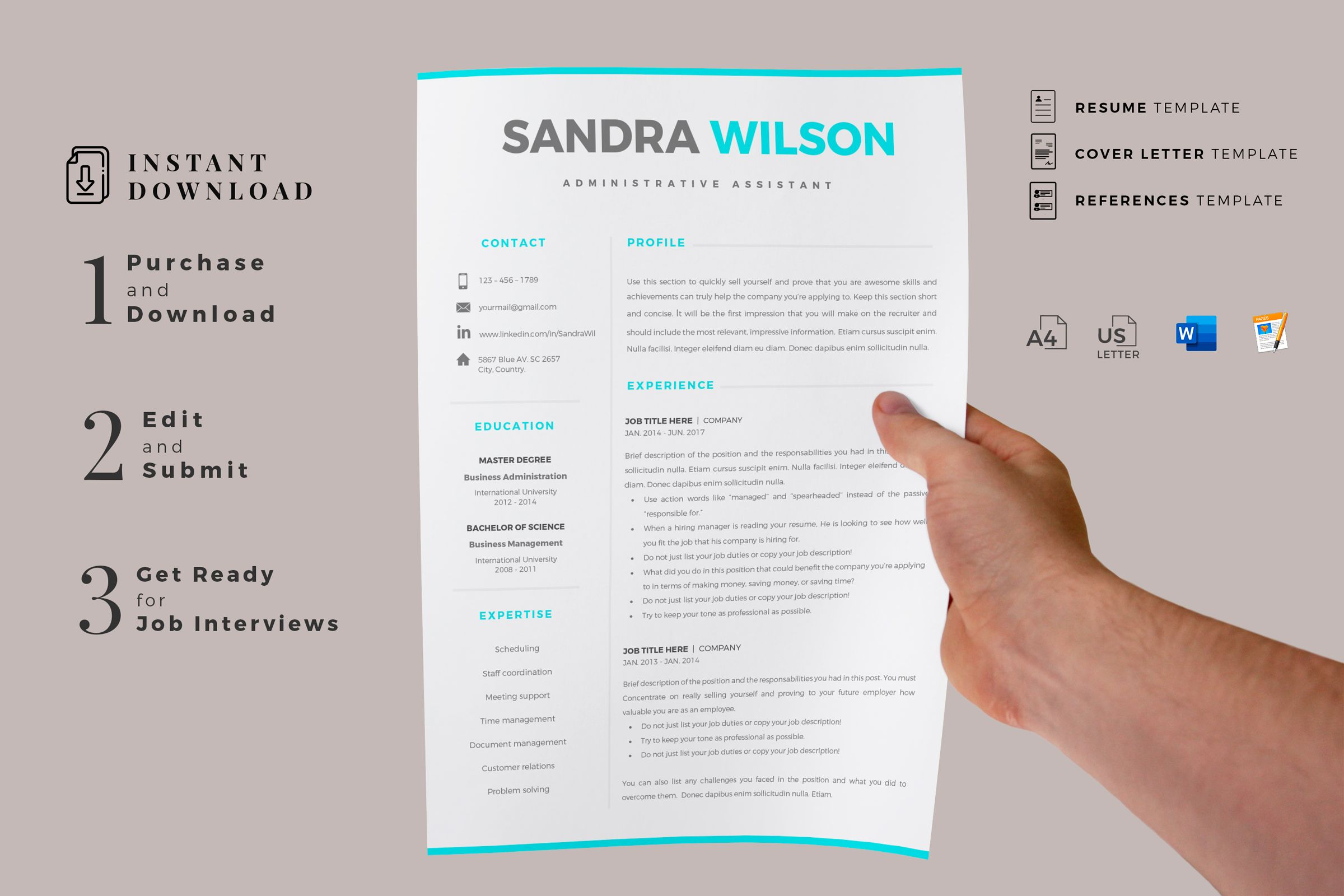 Creative Resume Templates For Ms Word And Mac Pages Professional Resume Templates And Matching Cove Resume Templates Resume Template Creative Resume Templates