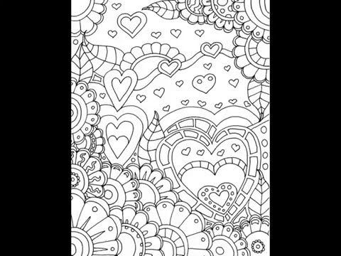 Hearts Coloring Book Youtube With Images Coloring Books Coloring Pages Free Adult Coloring Pages