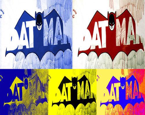 Andy Warhol Style Batman Pop Art Canvas. LOVE THIS.