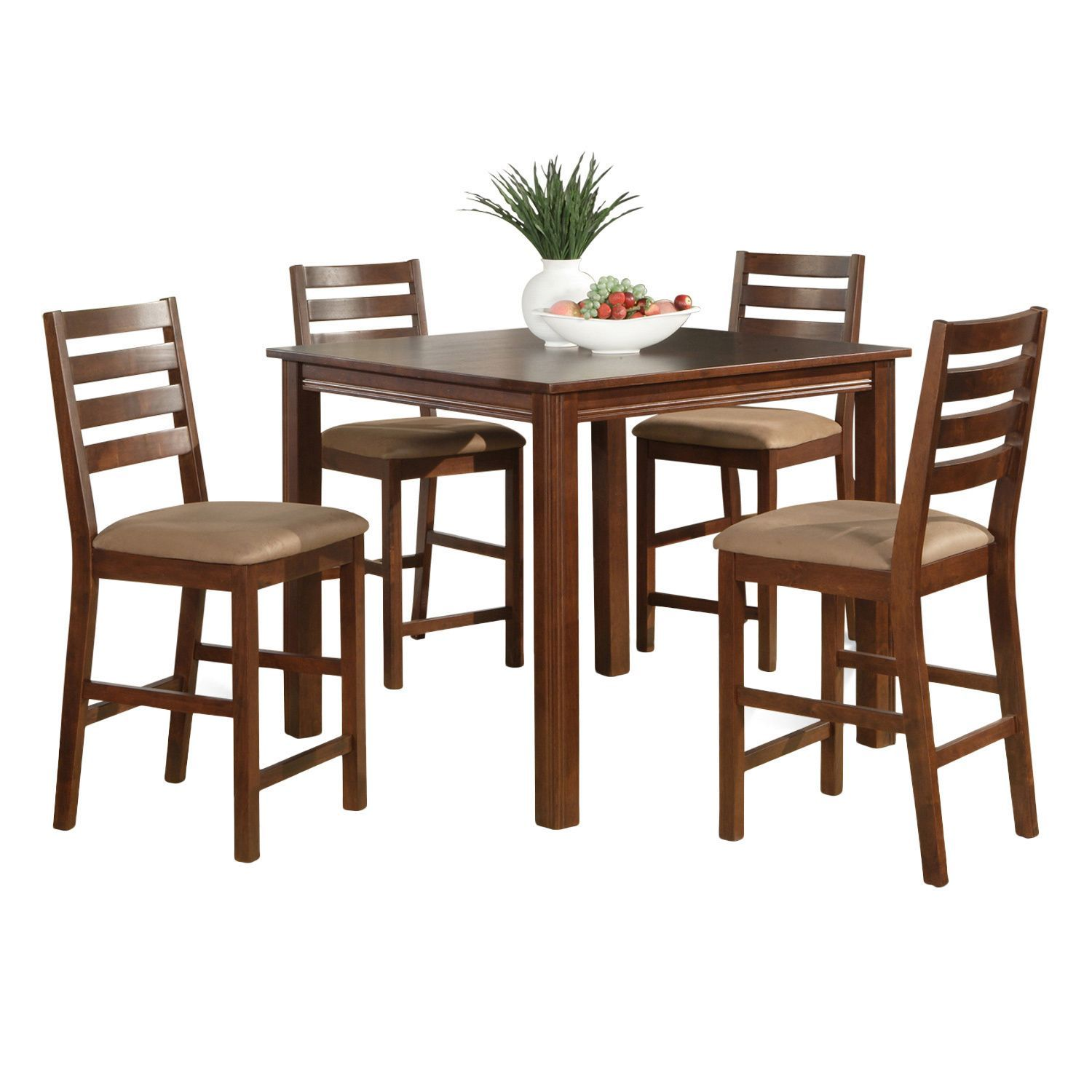 5-piece Gathering Table Set-Counter Height Square Table 4 Chairs  sc 1 st  Pinterest & 5-piece Gathering Table Set-Counter Height Square Table 4 Chairs ...