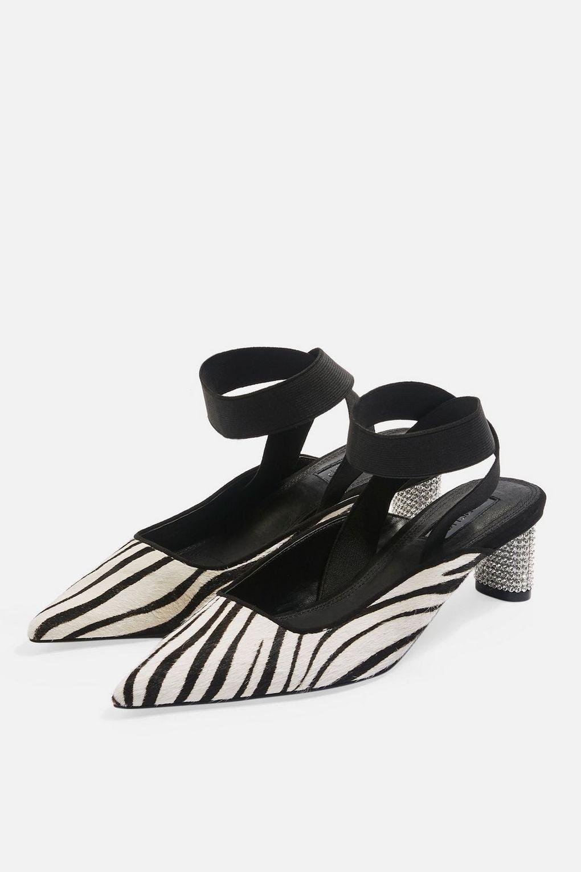 68bdbe5b611c Topshop JAX Pointed Diamante Heel Shoes