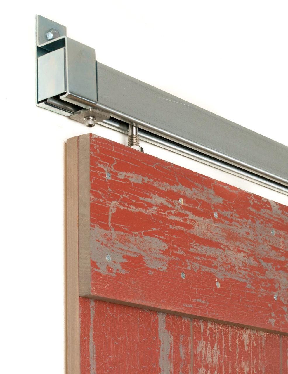 Box Rail in Galvanized Steel (Side Mount) | Barn door ...