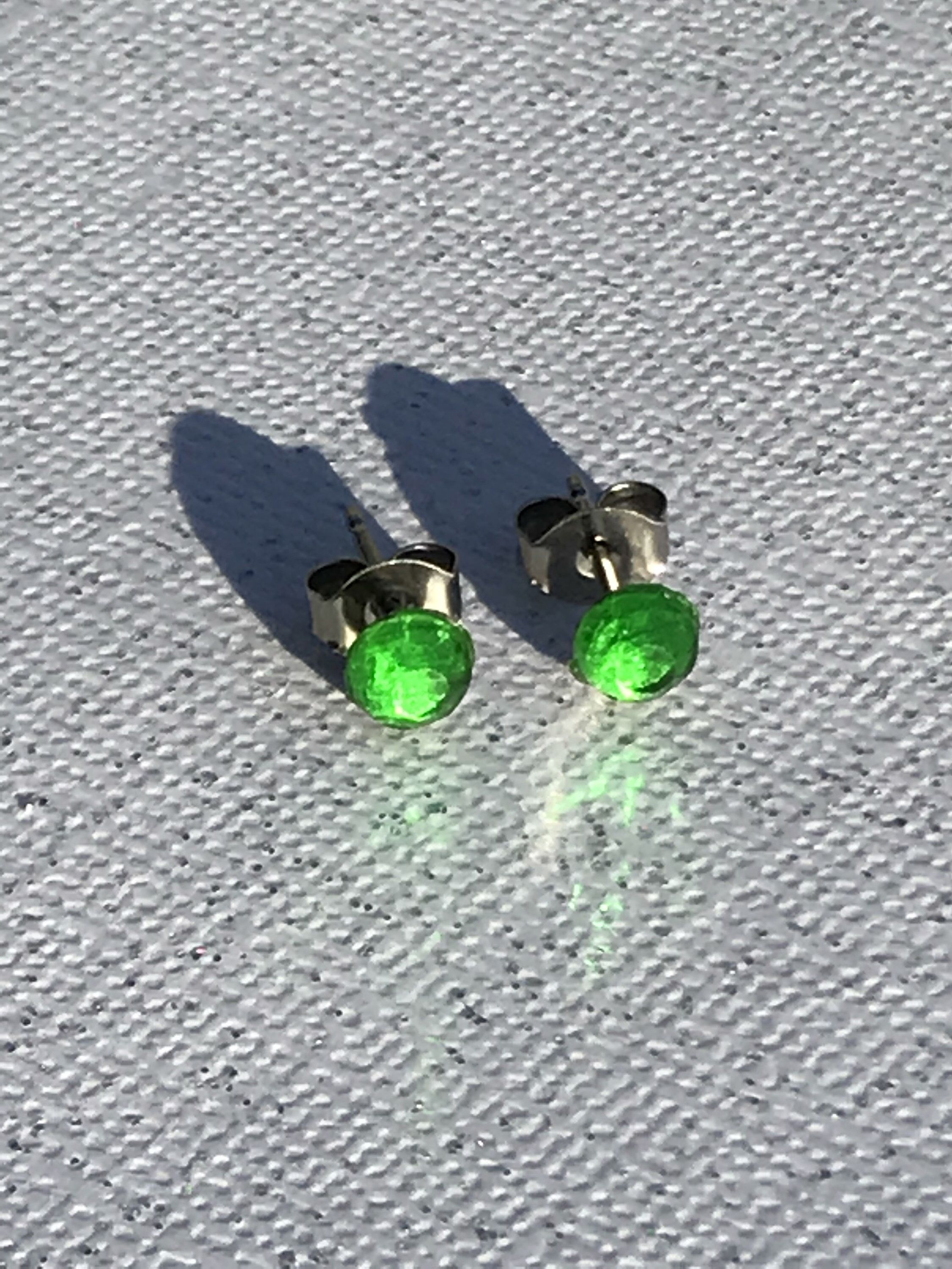 jewelry green find glass shades sea of earrings stud