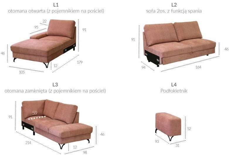 Nowoczesny Naroznik Flavio System Funkcja Spania 8256064947 Oficjalne Archiwum Allegro