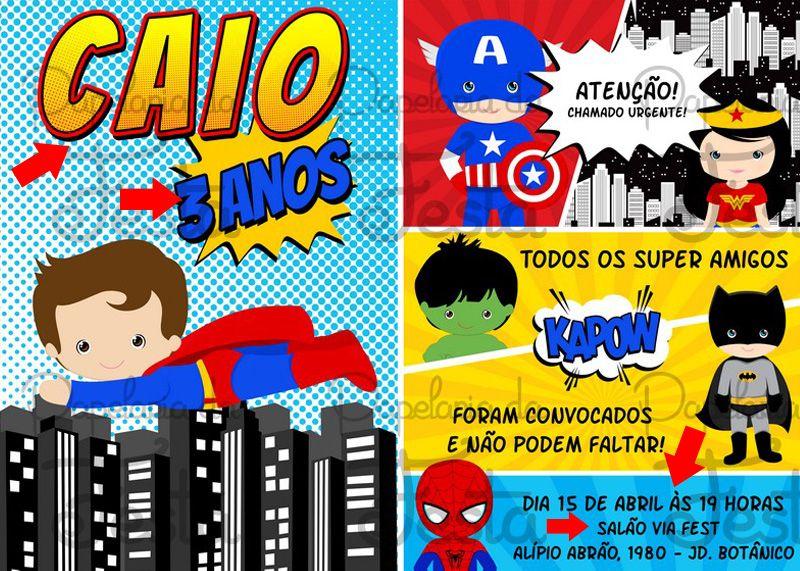Kit De Festa Super Herois Baby Para Imprimir Gratis Pesquisa