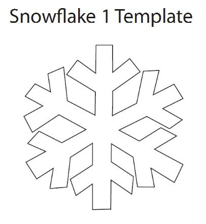 Snowflake Ornament Tutorial  Snowflake template Simple snowflake