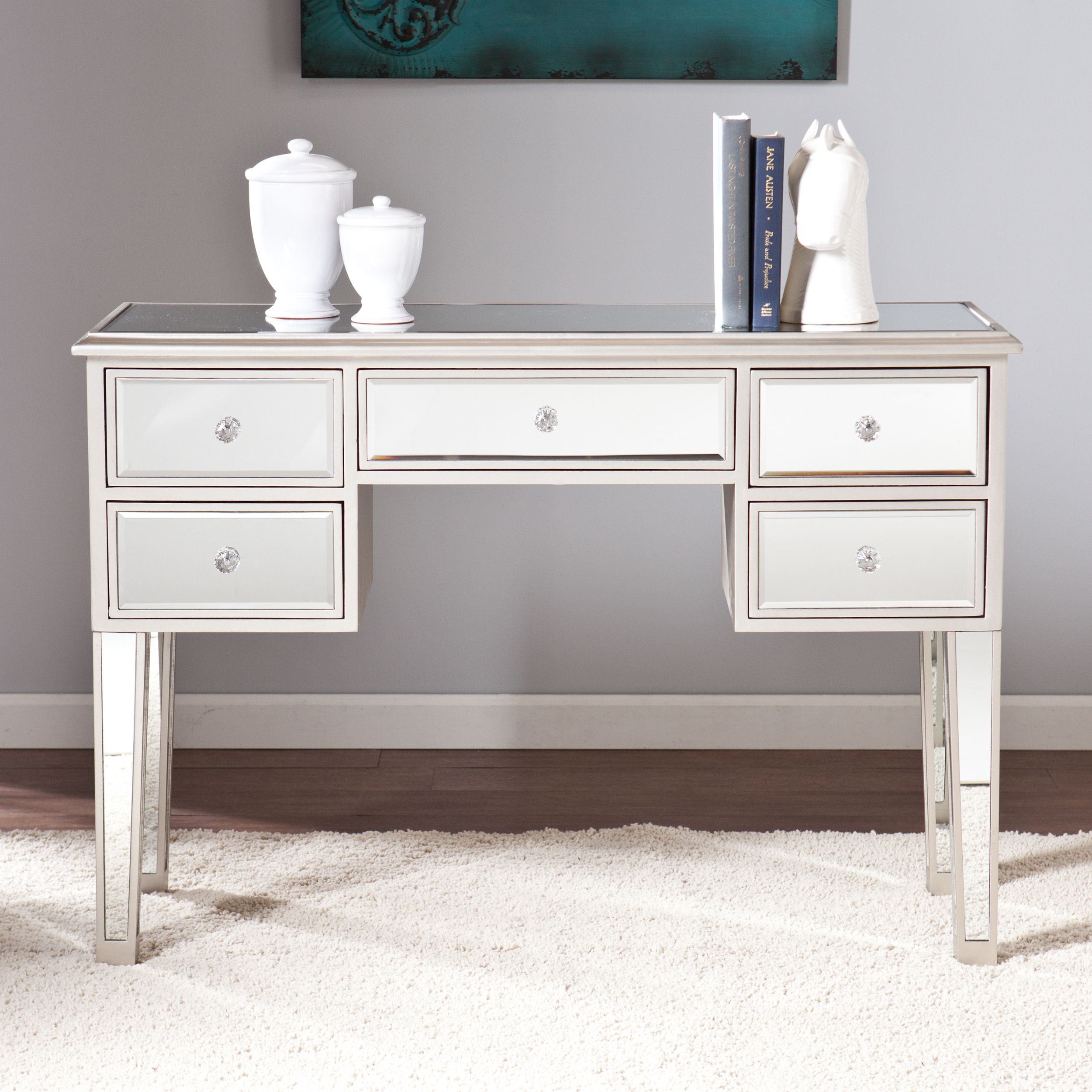Upton Home Monroe Mirrored Console Table Shopping The Best Deals On Coffee
