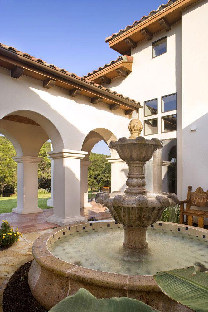 Beautiful Terrace Fountain La Salud House-Spanish/Mediterranean