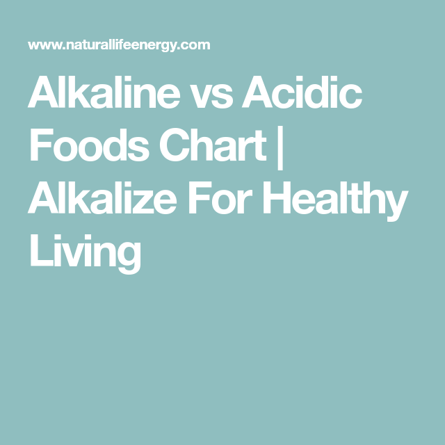 Alkaline Vs Acidic Foods Chart (With Images)