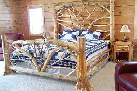 Tree Trunk Bed 家 ベッド ログハウス