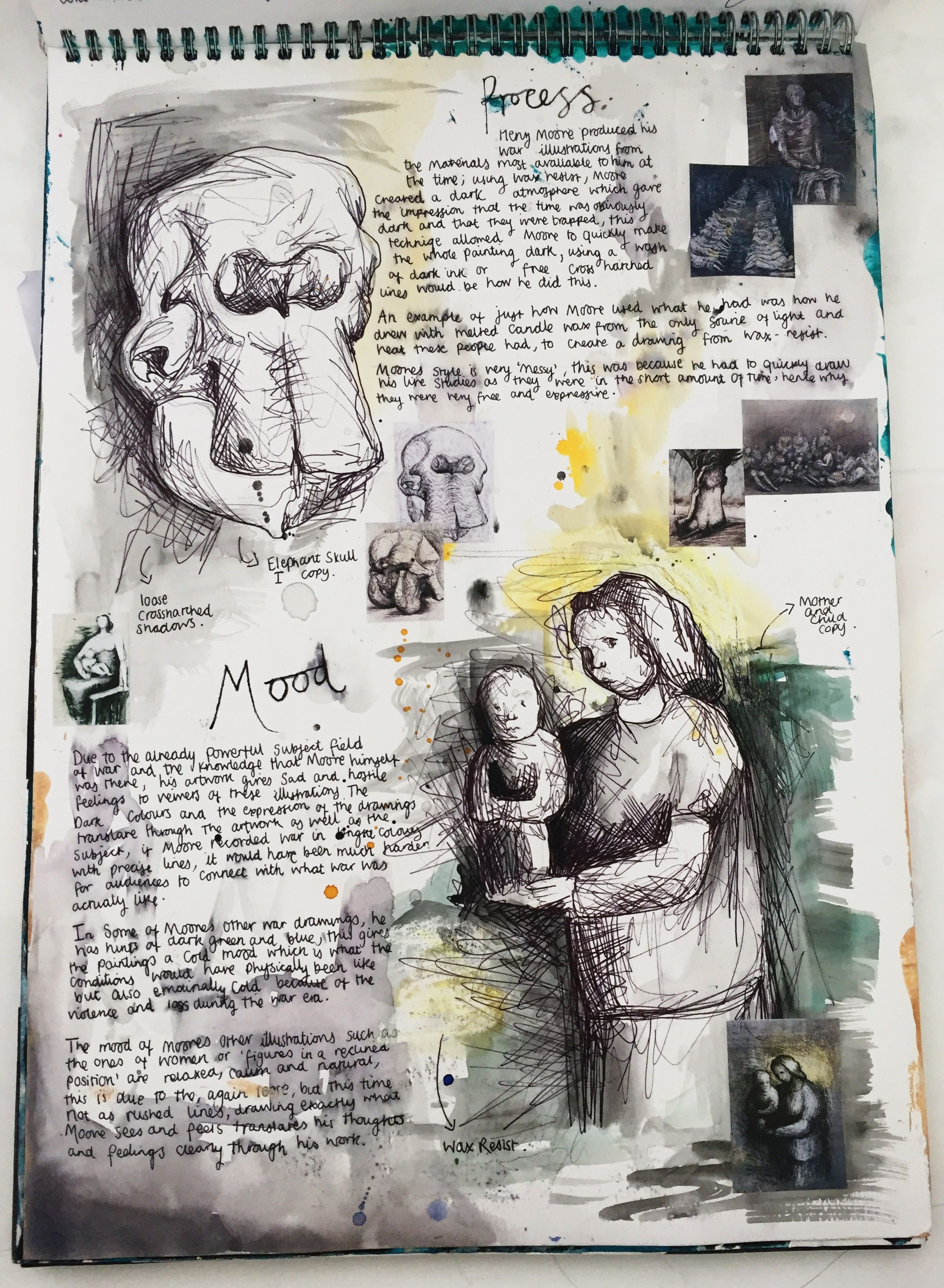 Henry Moore Artist Study November Page 2